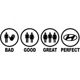 BAD GOOD GREAT PERFECT HUNDAI