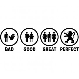 BAD GOOD GREAT PERFECT PEUGEOT